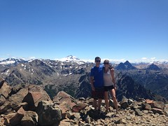 Au sommet de Cerro Catedral