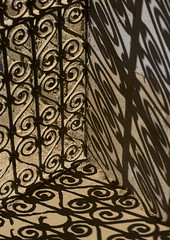 Wrought Iron Window In The Citadel, Erbil, Kurdistan, Iraq (Eric Lafforgue) Tags: door travel shadow color building history window vertical architecture photography ancient asia day artistic fort citadel iraq wroughtiron middleeast sunny nobody nopeople unescoworldheritage thepast iraqi erbil divan kurdistan arbil capitalcities traveldestinations hewler irbil northerniraq iraqikurdistan hawler oldruin colourimage iraqiculture middleeasternculture kurd144048