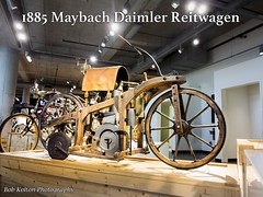 1885 Maybach Daimler Reitwagen (Bob Kolton Photography) Tags: classic museum vintage motorcycles motorcycle daimler maybach barbermotorsports bobkoltonphotography barbervintagemotorcycles