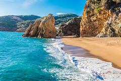 Sunny Morning at Illa Roja (Cristian-Z) Tags: morning sea cliff sun beach water beautiful wonderful landscapes sand nikon waves beautifullight naturallight pals catalonia catalunya nikkor costabrava sundays