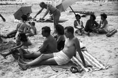 Found_KodakFR_05111646 (Mark Dalzell) Tags: city bw white black france film beach found kodak atlantic boardwalk 1946