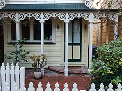 Quaint and Wooden (mikecogh) Tags: heritage architecture woodwork wooden pretty nelson paving 12 quaint pickets