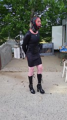 20160522_175435 (bondagefanberlin) Tags: highheels outdoor bondage bdsm gag crossdresser cuffs knebel handschellen