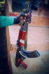 Gibbs Farm, Tanzania - Kalashnikov (Regan Gilder) Tags: africa canon magazine tanzania outdoors gun outdoor rifle safari ngorongoro ngorongorocrater protection machinegun ak47 gibbsfarm eastafrica kalashnikov ngorongoroconservationarea canoneos5dmarkiii russianrifle