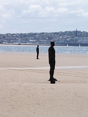 Crosby Beach (divnic) Tags: sculpture mersey antonygormley merseyside anotherplace crosbybeach metropolitanboroughofsefton anotherplaceantonygormleyliverpoolmerseyriver