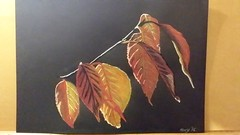 Autumn leaves2016 (Art & illustration by Kerry) Tags: autumn stilllife food vegetables leaves illustration pencil painting pumpkin leaf artwork paint drawing derwent watercolour draw watercolourpencils coloursoftpencils