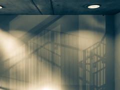 Shadows on the wall I (jwitzsch) Tags: light shadow sun abstract public wall stairs concrete stuttgart fineart stairwell stairway staircase sonne schatten allrightsreserved beton gitter abstrakt iphone swr swr1 iphone6 jwitzsch gpspublic joergwitzsch copyrightjrgwitzsch