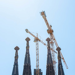 Spires of the Sagrada Familia (JJ Photog) Tags: world barcelona family roof building heritage church familia architecture site spain catholic cathedral roman spires basilica religion christian spire holy gaudi manmade christianity pillars minor sagrada antoni expiatory