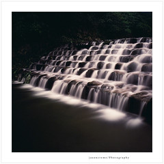 tumbling waters (jasoncremephotography) Tags: longexposure water rollei rolleiflex river taiwan slide velvia fujifilm fujichrome e6 fw rvp50 rolleiflexfw