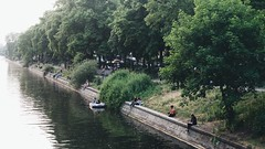 sunday at landwehr canal (kadircelep) Tags: berlin river canal cityscape streetphotography