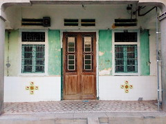 the faded (grassybrownie) Tags: door old trip travel blue houses house color window colors architecture vintage asian design singapore colorful asia exterior designer interior chinese decoration style retro wanderlust architect malaysia lantern penang decor nofilter