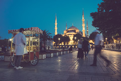 Blue Mosque Square (Mahmoud Abuabdou) Tags: travel blue tourism turkey muslim islam prayer pray olympus istanbul mosque tourist explore sultan sultanahmet omd fatih em1 ahmet