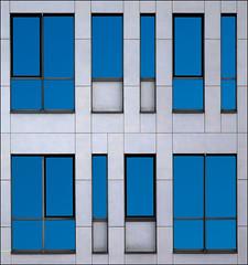 Symphony in blue (jefvandenhoute) Tags: blue windows light brussels lines belgium belgique sony shapes belgi bruxelles brussel rhythm rx10 photoshopcs6
