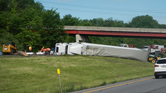 Oops (blazer8696) Tags: 2016 brewster ecw ny newyork sodom t2016 usa unitedstates crash dscn0137 oops over roll rollover tractor trailer truck rtei084 rteus202 rteus006