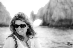 Mexacali Mama (Thomas Hawk) Tags: vacation bw mexico cabo arch fav50 spouse landsend wife bajacalifornia baja cabosanlucas loscabos elarco juliapeterson fav10 fav25 mrsth archofcabosanlucas