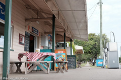 not much happens at 9.16 a.m. in Kilkivan (starfishmoment) Tags: travel winter building country australia queensland shopkeeper kilkivan fujimagic starfishmoment kilkiven