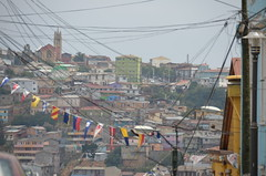 so many lines (Hayashina) Tags: southamerica town wire view telegraphpole htt