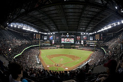 Chase Field, Phoenix (p r a t y u s h 360 | PHOTO) Tags: arizona green sports canon baseball stadium indoor diamond fisheye 15mm ballpark diamondbacks