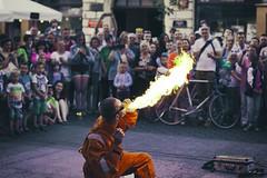fire eater (adam_dunikowski) Tags: street fire poland polska peoples fireeater lodz d