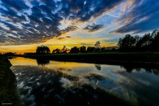 Sunset near the Schuytgraaf in Arnhem - Netherlands