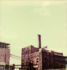 domino factory (lawatt) Tags: film brooklyn factory sugar instant domino slr680 theimpossibleproject color600