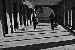 shaded pathway (thimylin) Tags: street people bw peru monochrome cusco 2014 1408311362