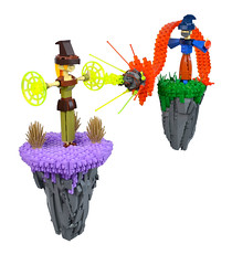 Fire & Earth (Ian Spacek) Tags: toys lego wizard magic