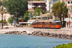 A Beautiful journey: Tram in Port de Sller (miphages) Tags: espaa canon spain tram vehicle mallorca majorca tranva espanya sller majorque portdesller eos450d 450d puertodesller ferrocarrildesller efs55250mmf456is rebelxsi kissx2 miphages