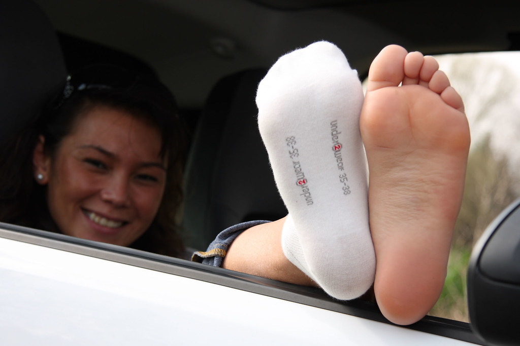 Sock smelling and foot worship 1