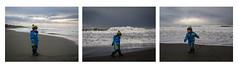 Stefano races the waves (Christa (ch-cnb)) Tags: sea italy playing storm roma beach composite mediterranean italia triptych waves olympus pro zuiko omd stefano lazio marinadisannicola twoyearold mzd1240mm