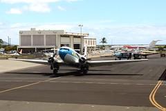 DC-3 Dakota (Prayitno / Thank you for (11 millions +) views) Tags: blue sky cloud 3 classic airplane island hawaii three dc airport oahu aircraft sunny international cumulus classical hi honolulu douglas dc3 dakota mcdonald hnl konomark