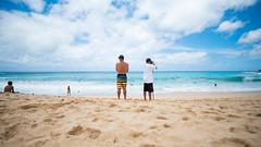 Lookout. (PeeterTomson) Tags: life beach hawaii waves oahu good sandy explore enjoy fujifilm the bodysurf xa1