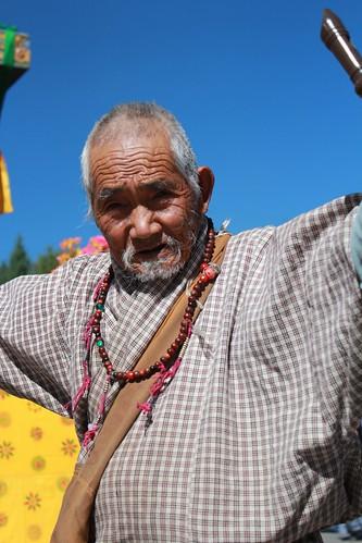 Thimphu, Memorial Chorten, old man
