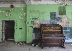 (Subversive Photography) Tags: usa abandoned america dark graffiti book us decay piano atmosphere urbanexploration exit asylum derelict urbex kroeger danielbarter statesofdecay unitedstatesofdecay