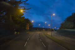 Plymouth Embankment Road (David Hodder) Tags: road cars night sunrise lights plymouth devon embankment