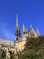 Notre-Dame Cathedral (oxfordblues84) Tags: paris france building church architecture europe cathedral spire notredamecathedral frenchgothic ledelacit roadscholar archdioceseofparis roadscholartour