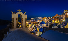 Oia Santorini at night (george papapostolou) Tags: travel island nightshot traditional hellas santorini greece arcitecture griechenland oia cyclades travelphotography aegeansea     helnica    nikond7000 georgepapapostolou