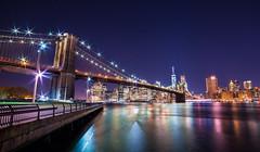 Brooklyn Bridge / New York City (Hamilton!) Tags: new york city newyorkcity bridge newyork tower brooklyn night freedom nikon brooklynbridge 14mm freedomtower d810 rokinon