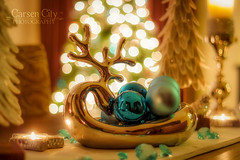 Christmas Deer (Carsen City Photography) Tags: christmas light house blur color night canon eos 50mm lowlight exposure decoration depthoffield f18 product decor lightroom 2014 productphotography 550d bokehlicious t2i carsencityphotography