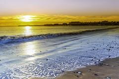Sunrise at Paignton Pier (messedupmojo) Tags: uk sea beach sunrise canon pier sand waves devon lee filters paignton 6d 24105l