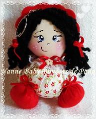 Chaveiro - 10cm (Nanne Baby Bonecas de Pano) Tags: de pano fuxico boneca chaveiro lembrancinha