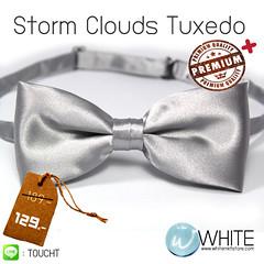 Storm Clouds - หูกระต่าย สีเทาอ่อน เนื้อผ้าผิวมัน เรียบ งานไทย เกรต A