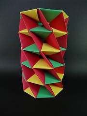 Twisted Tower (Tomoko Fuse) (OrigamiSunshine) Tags: tower paper origami modular fold twisted paperfolding tomokofuse actionmodel origamisunshine