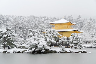 雪の舎利殿 - 金閣寺 / Kinkaku-ji Temple