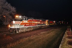 Sometimes, you just don't know (gsebenste) Tags: night illinois trains unionpacific rochelle southernpacific rochellerailroadpark heritageunit