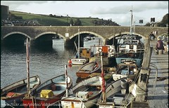 Fowey 1984 (oldphotosuk) Tags: old uk bridge people holiday film 35mm boats boat fishing scans flickr cornwall photos harbour britain scanned mooring british fowey oldphotosuk