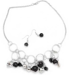 5th Avenue Black Necklace K2 P2120-1