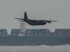 SPAG training in Gibraltar C130C5P ZH883 (David Parody) Tags: david m parody gibraltar hercules strait raf 2014 spag