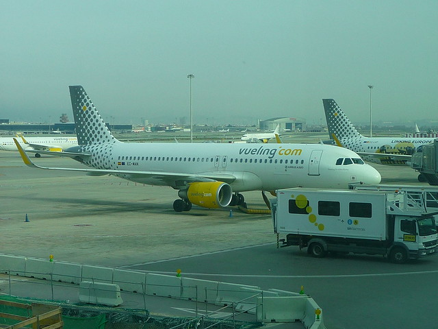 Our Vueling flight to NANTES, Barcelona airport