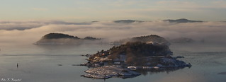 Bleikøya in the mist
